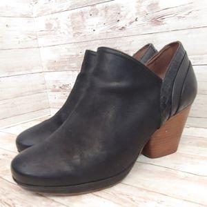 Dansko Marcia black embossed leather bootie
